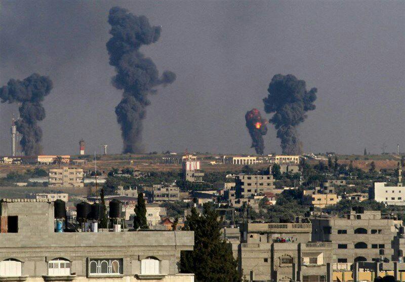 فڕۆکه شهڕکهرهکانی ئیسرائیل کهرتی غهززهیان بۆردومان کرد