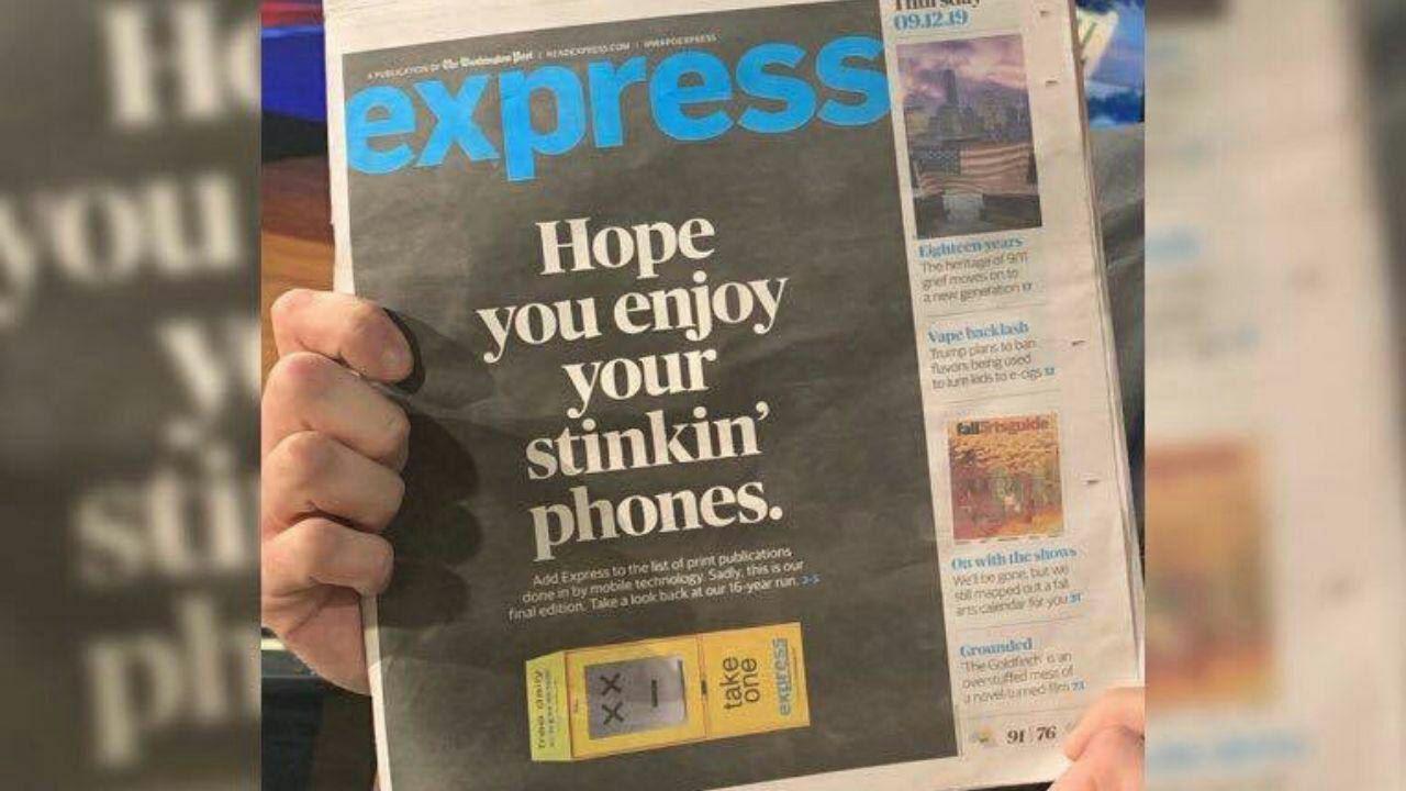 ڕۆژنامهیهکی ئهمریکی به هۆی مۆبایلهوه ماڵئاوایی له خوێنهرانی کرد